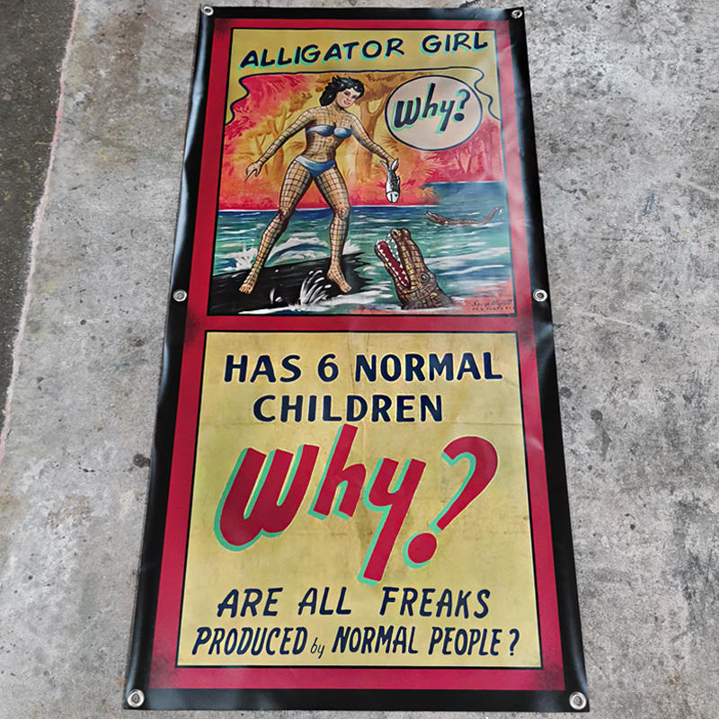 Alligator Girl Banner