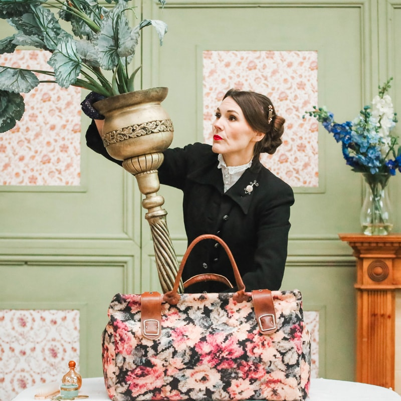 Mary Poppins Replica Carpet Bag With Trap Door