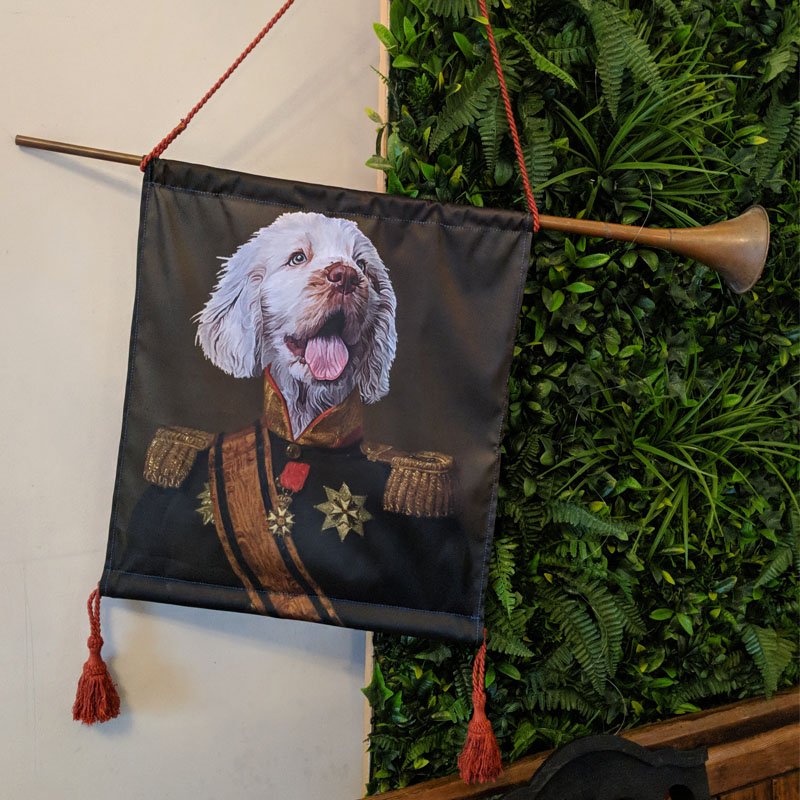 Dog Sergeant Copper Horn Banner