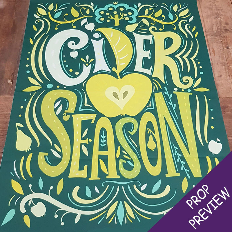 Cider Season Canvas Poster 1
