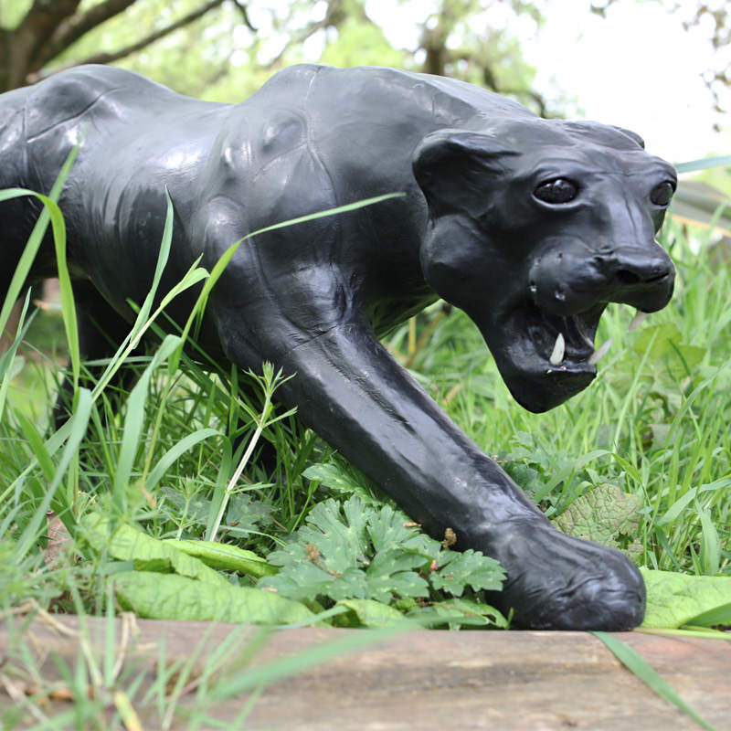 Black Leather Panther Statue 4