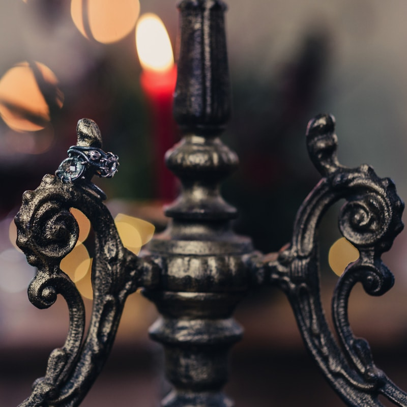 Cast Iron Gold Floorstanding Candelabra 4