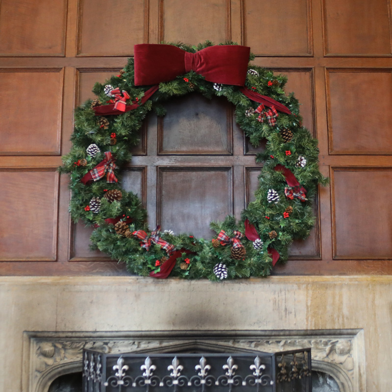 Giant Traditional Christmas Wreath