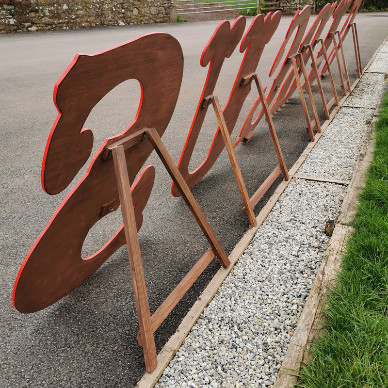 CIRCUS 4ft Freestanding Wooden Letters 2