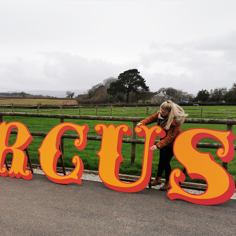 CIRCUS 4ft Freestanding Wooden Letters 4