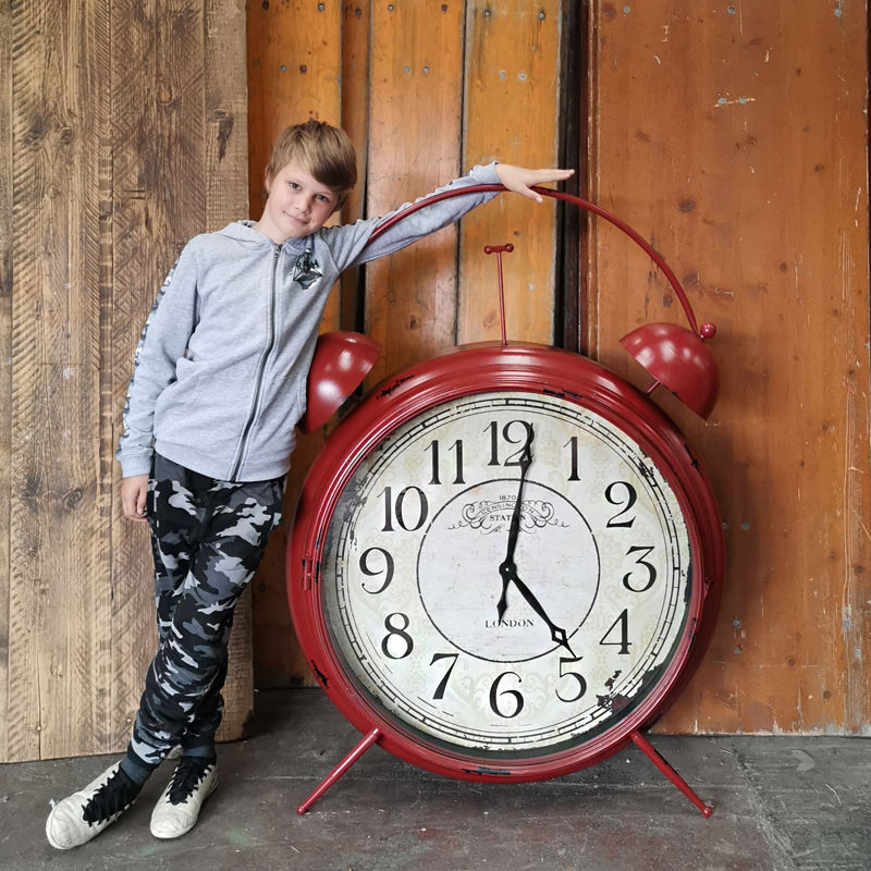 Giant Red Alarm Clock