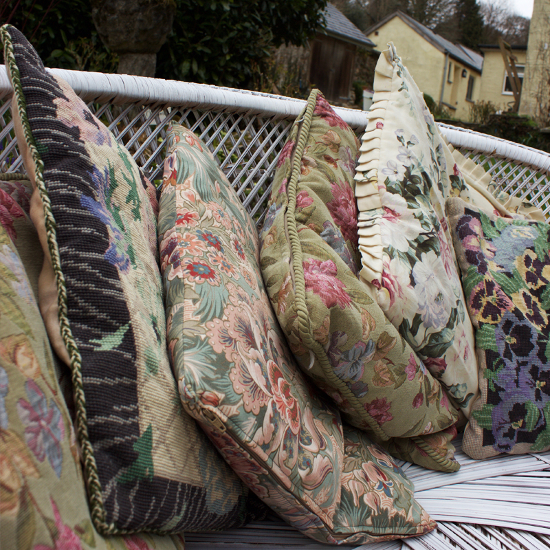 Assorted Cottage Cushions - set of six 2