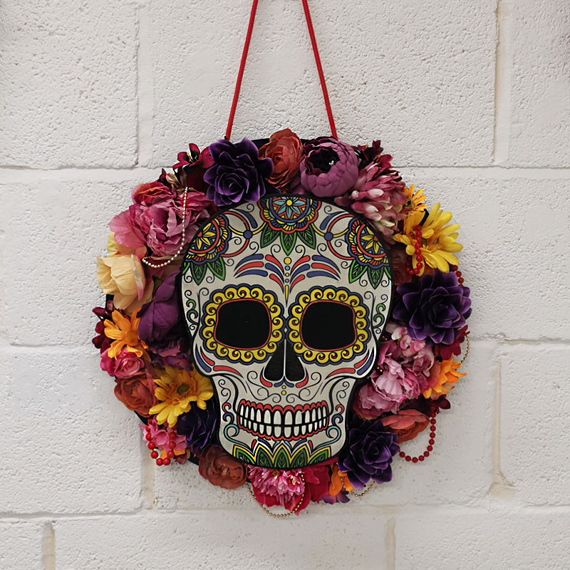 Day of The Dead Hanging Skull x1