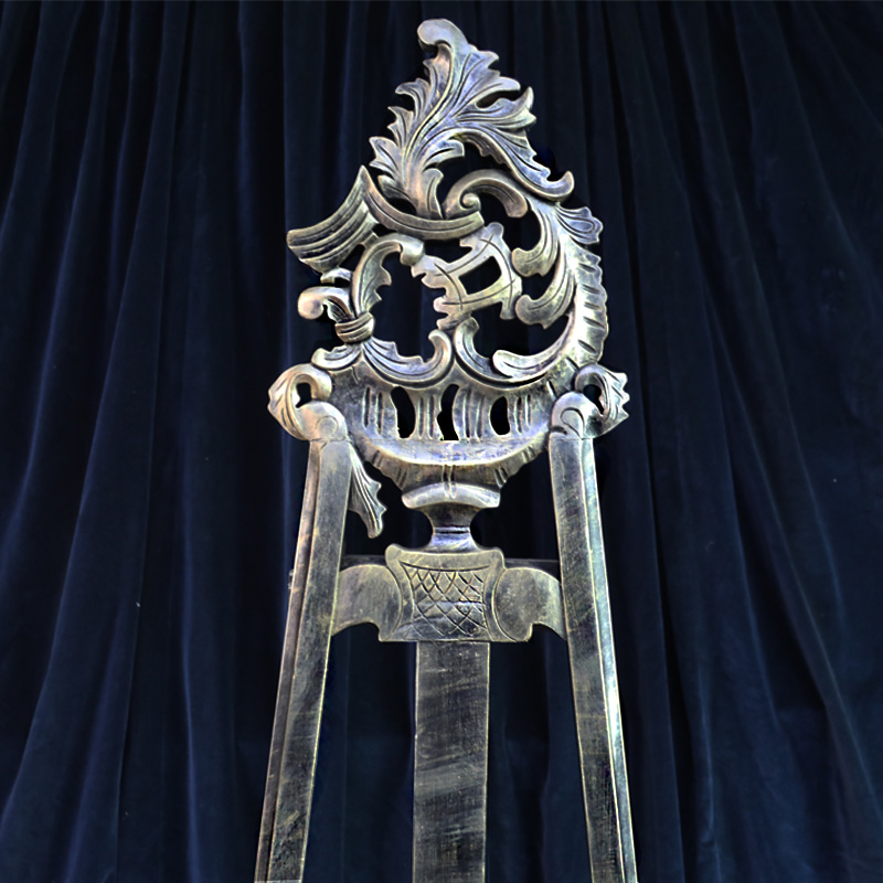 Black and Gold Ornate Easel 3