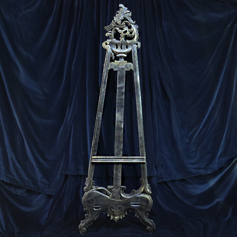 Black and Gold Ornate Easel