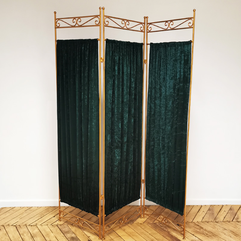 Emerald Green and Gold Vanity Screen