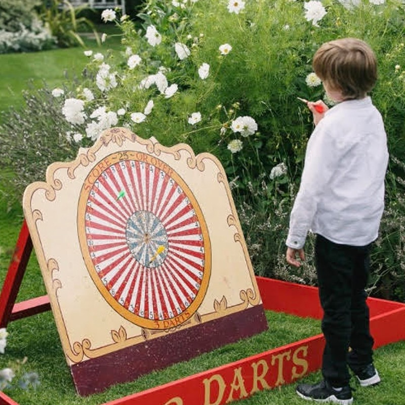Vintage Well Used Dartboard 4