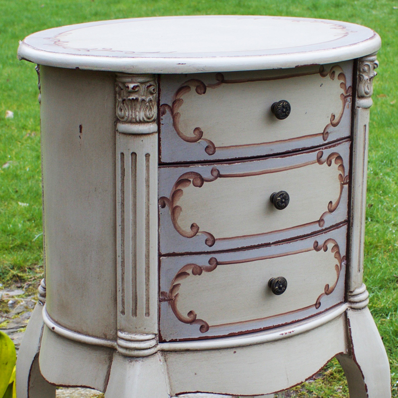 French Style Rococo Round Side Table 2