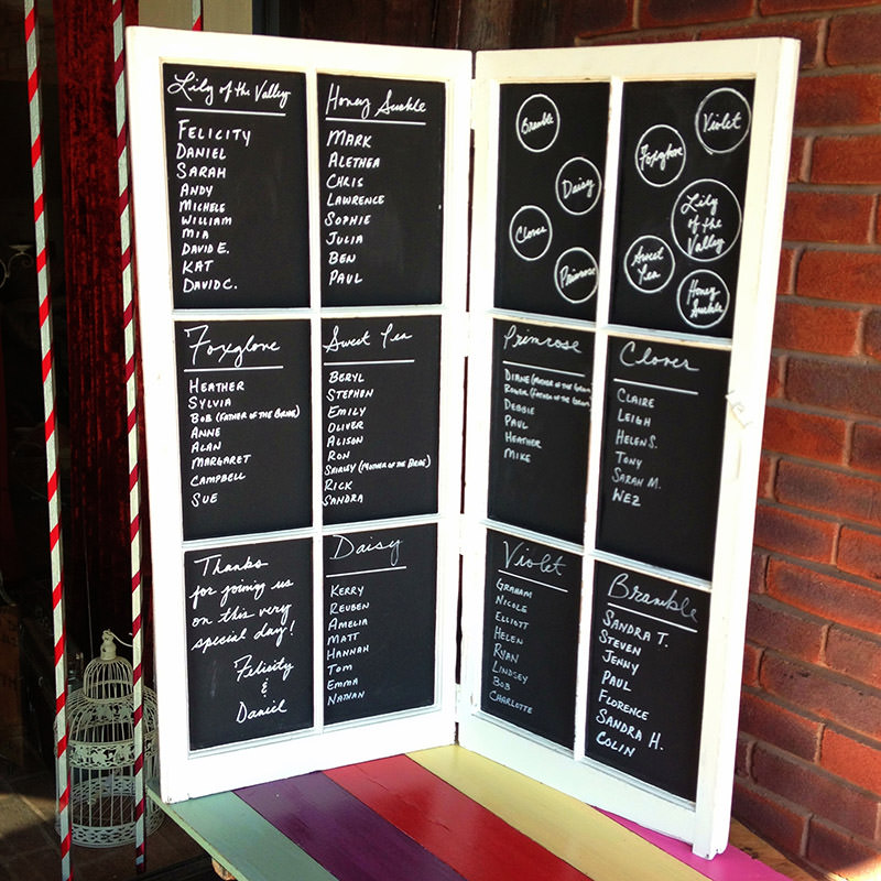 French Window Chalkboard