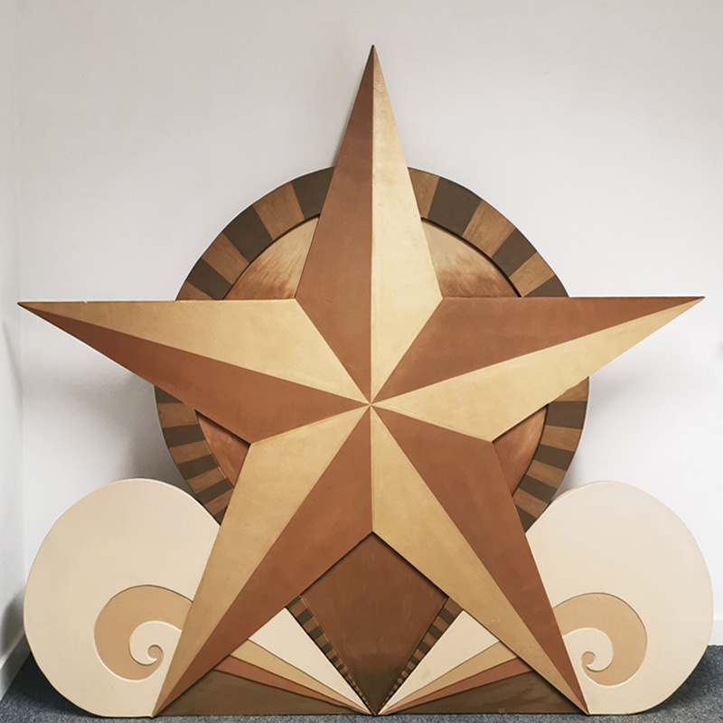 Giant Freestanding Gold Star