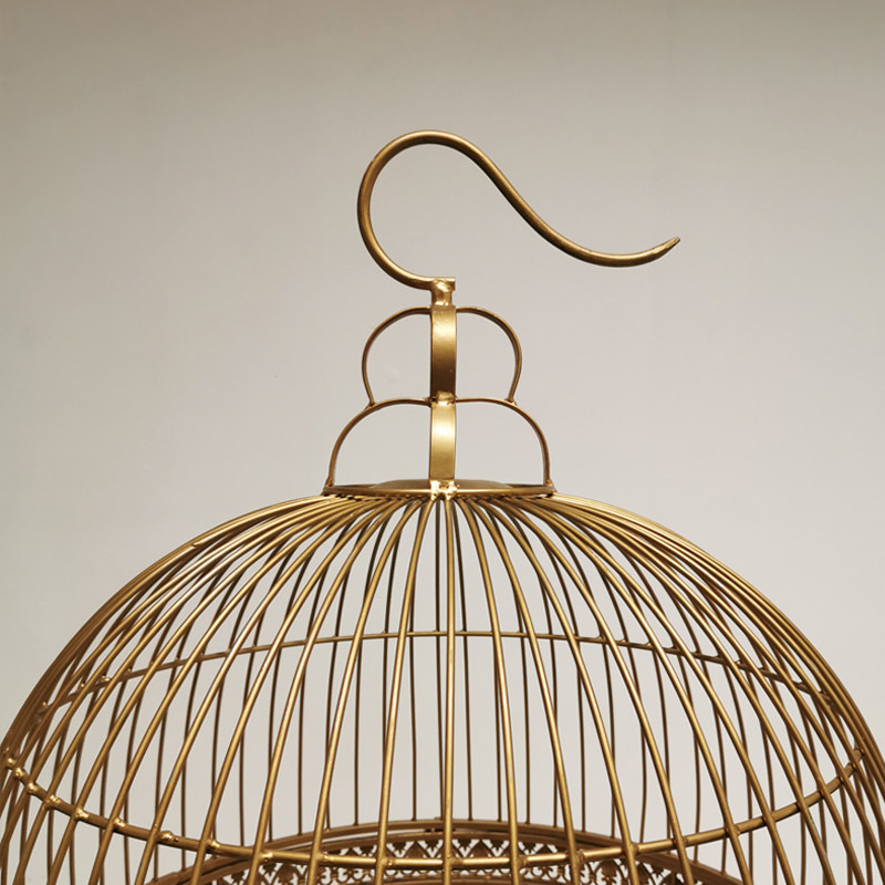 Giant Gold Vintage Bird Cage 3
