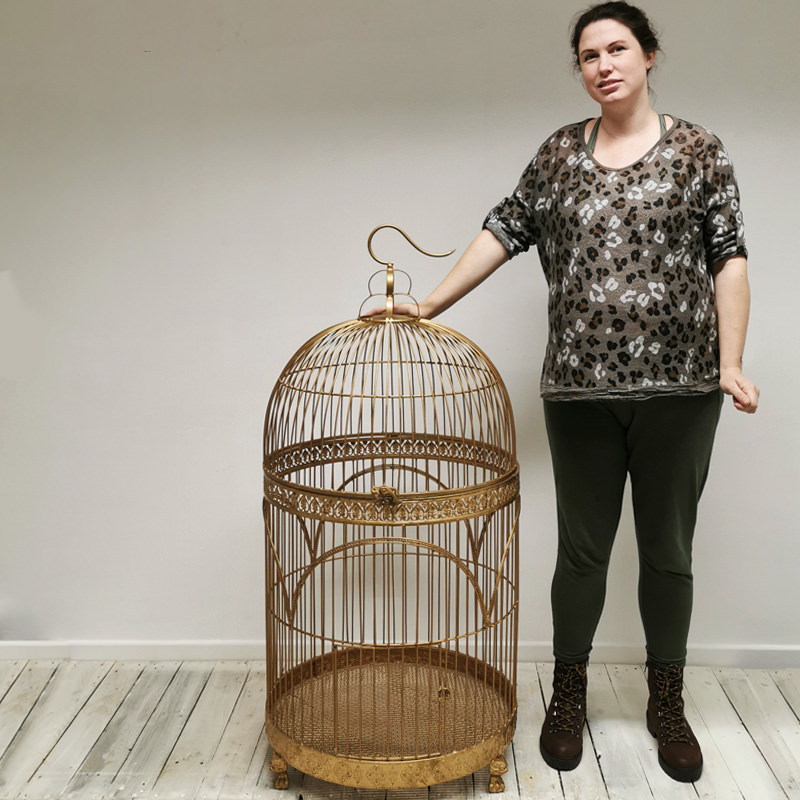 Giant Gold Vintage Bird Cage 2