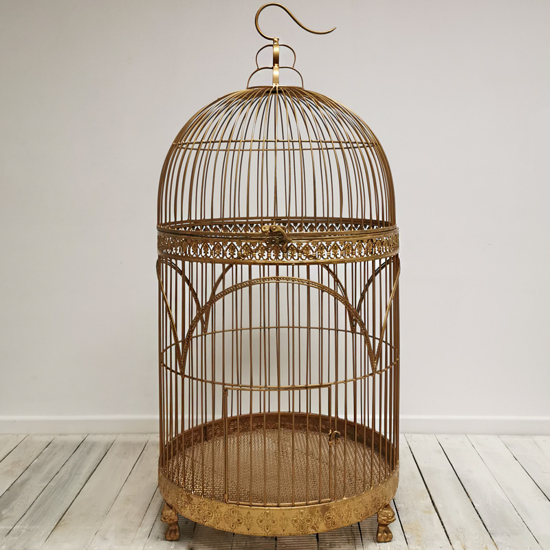 Giant Gold Vintage Bird Cage