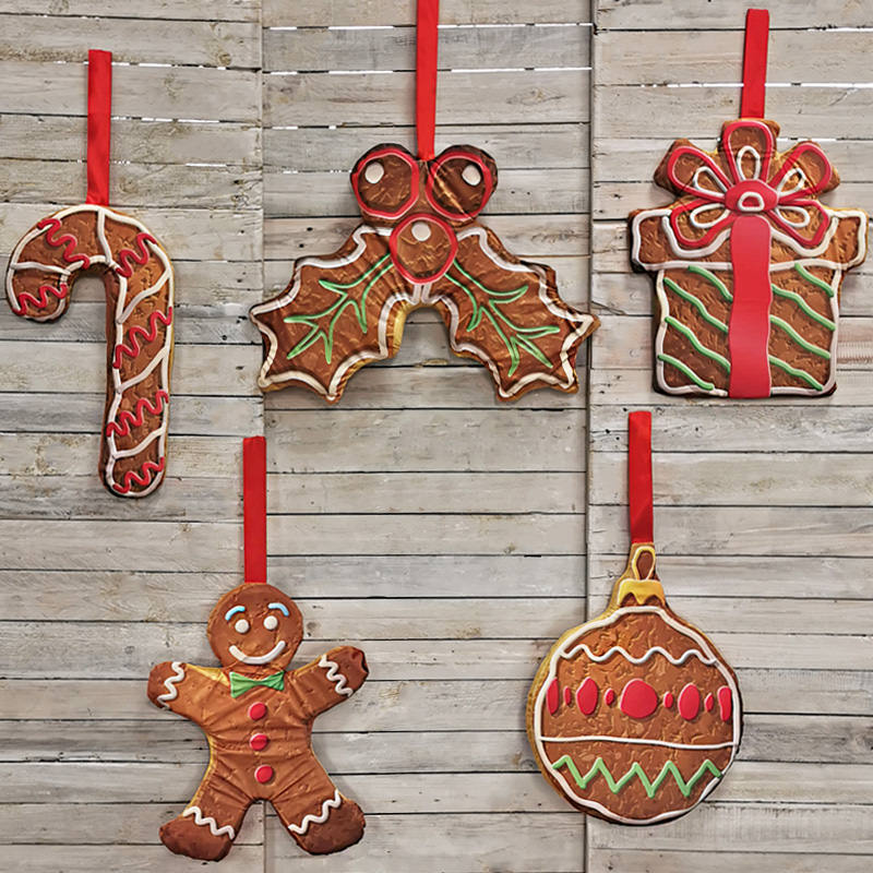 Giant Hanging Christmas Biscuits - set of six
