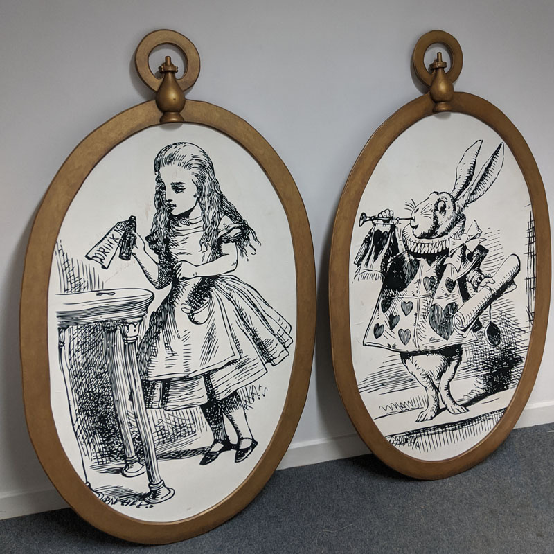 Wonderland Illustrations in Giant Pocket Watches - set of four 2