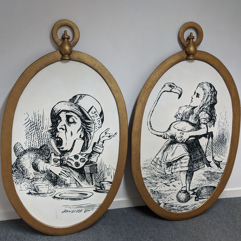 Wonderland Illustrations in Giant Pocket Watches - set of four 3