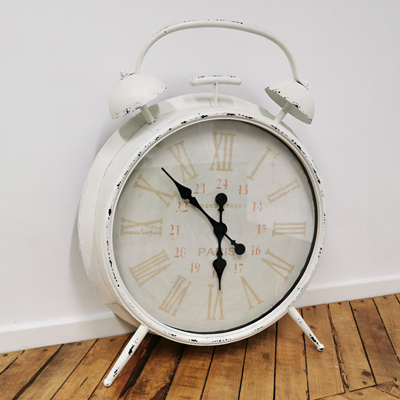 Giant White Alarm Clock