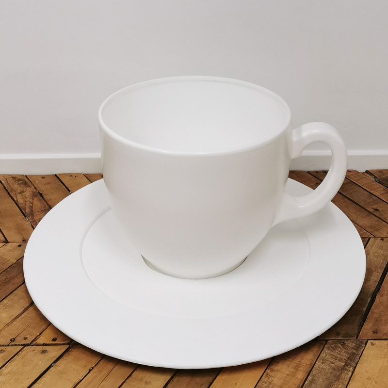 Giant White Teacup and Saucer