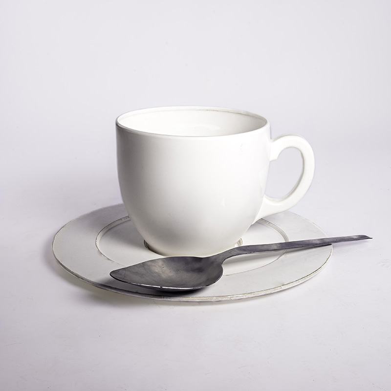 Giant White Teacup and Saucer  4