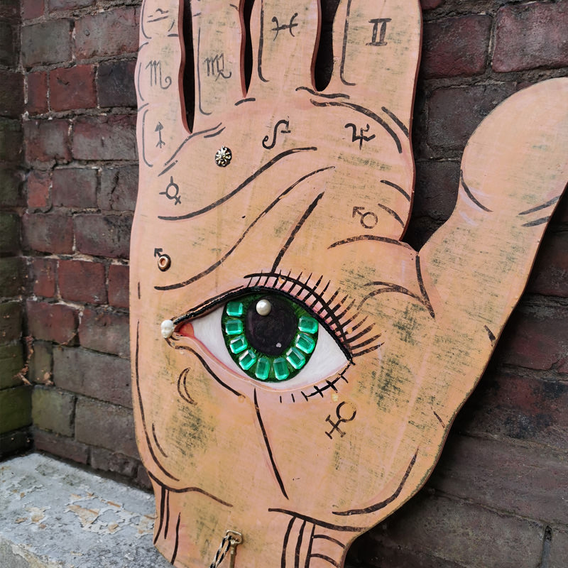 Hand And Eye Giant Sign 2