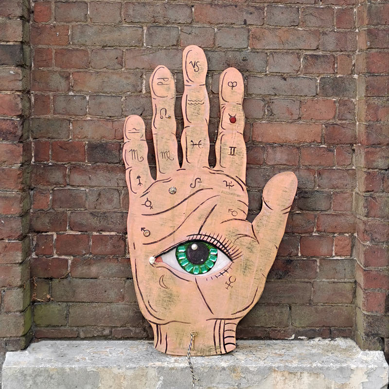 Hand And Eye Giant Sign 1