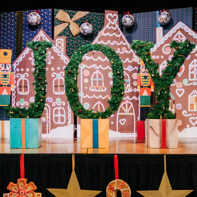 JOY Christmas Tree Letters