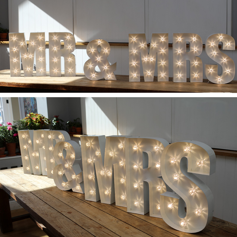Medium MR & MRS Letter Lights