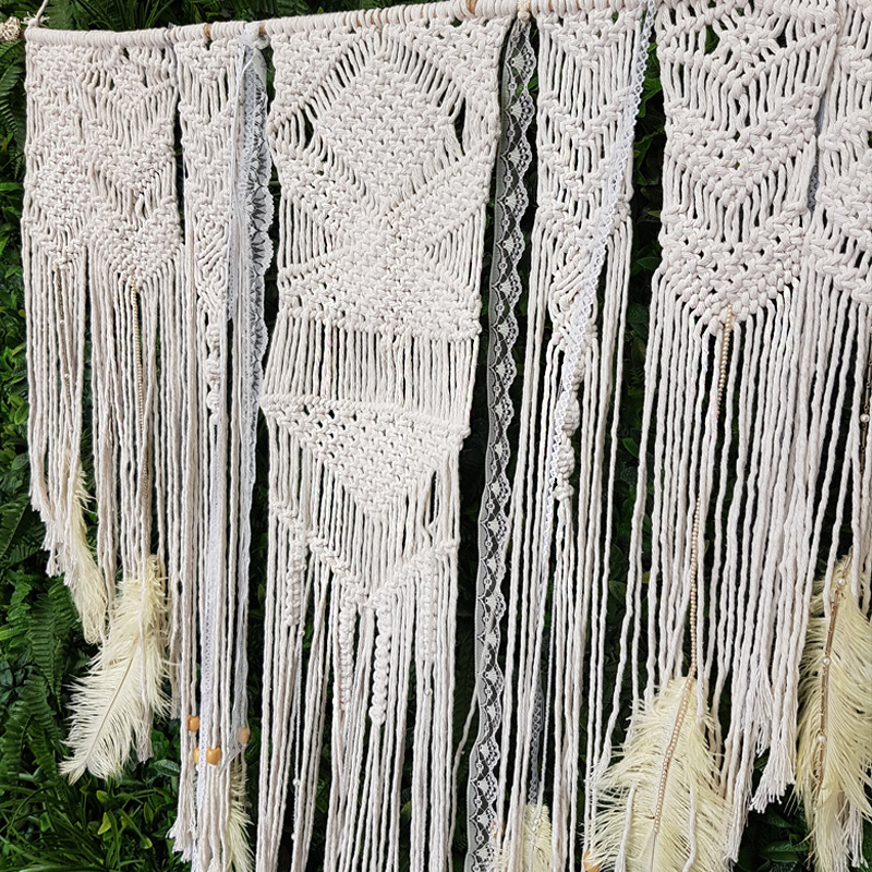Macrame Hanging Backdrop 1.2m by 1.8m  4
