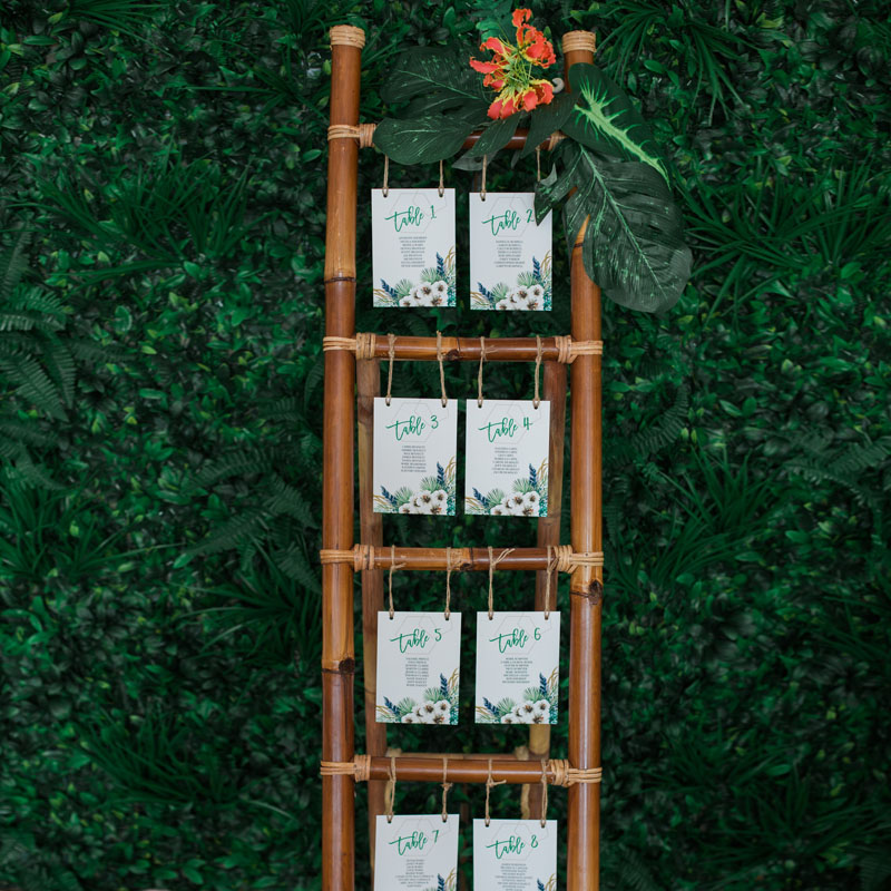Bamboo Ladder Table Plan or Display