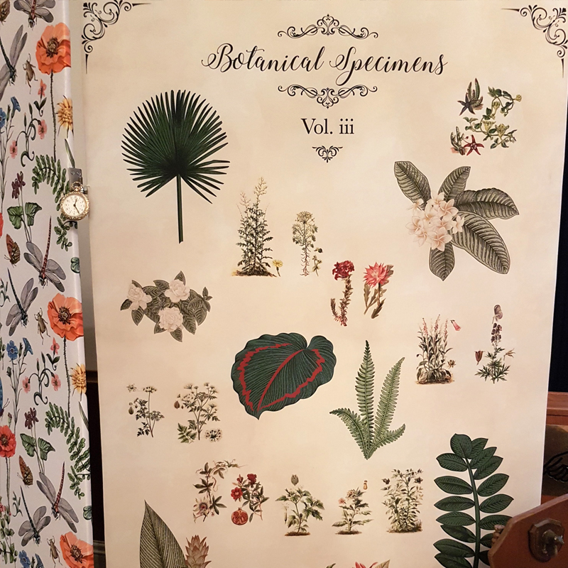 Botanical Book Concertina Panel