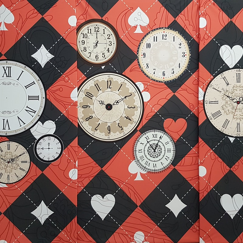 Cards and Clocks Concertina Backdrop Panels x4
