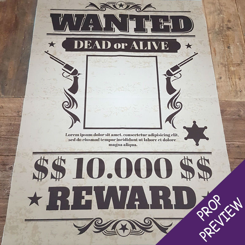 WANTED Photo Backdrop Banner