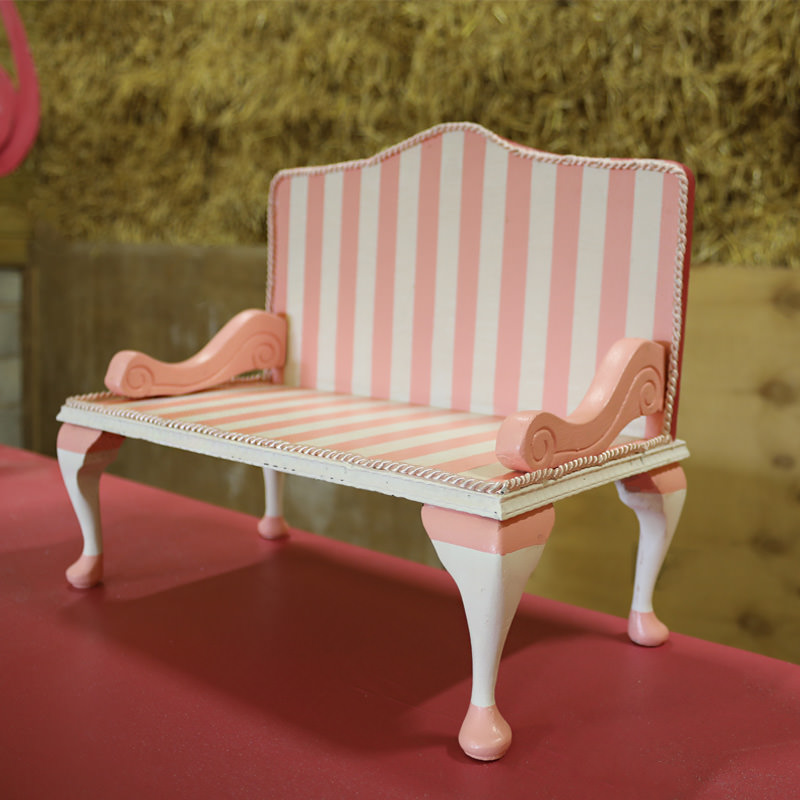 Pink Candy Striped Display Plinth