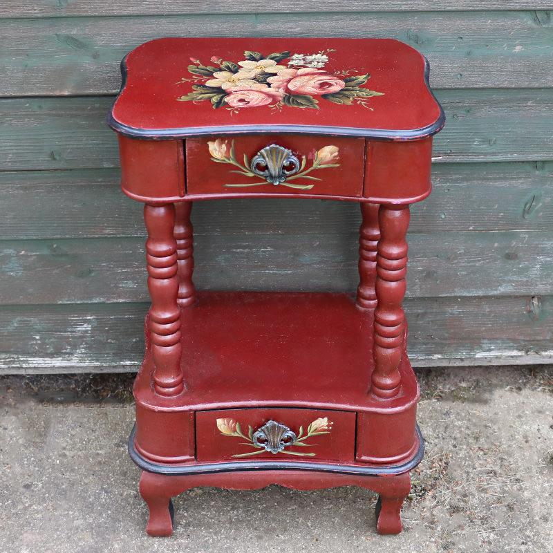Renaissance Rose Red Side Table