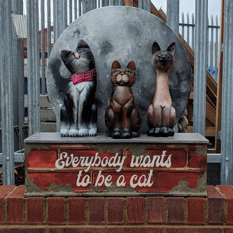 Everybody Wants to be a Cat Sign