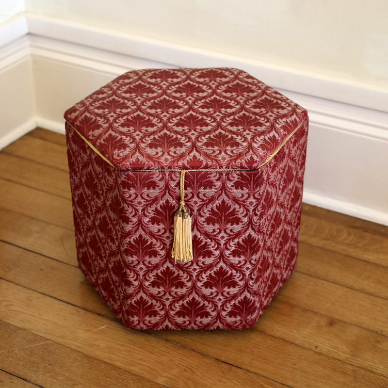 Hexagonal Red Fabric Box
