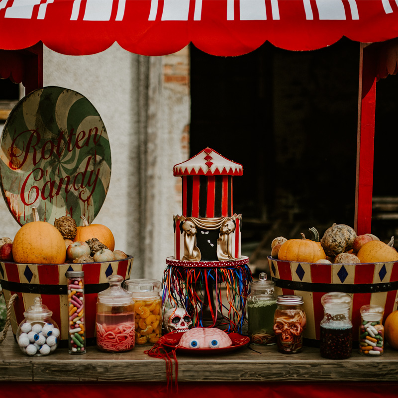 Red and White Confectionery Stand 3