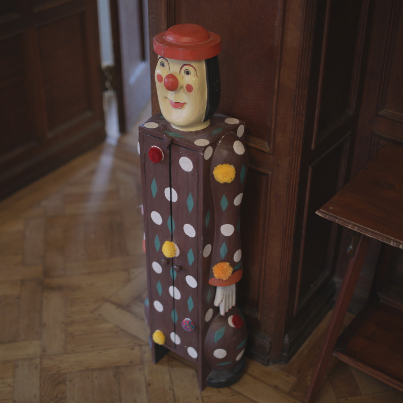 1970s Clown Cupboard with Added Pom-poms