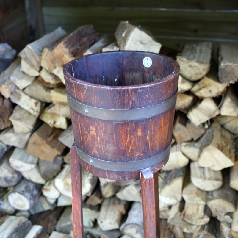 Barrel Top Plant Stand 2