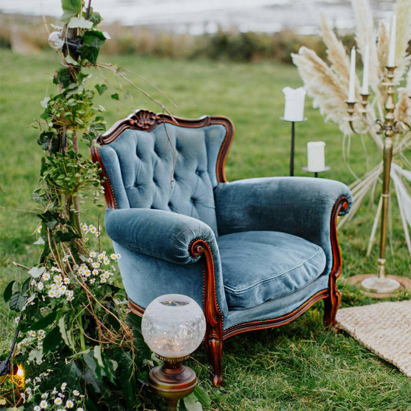 Sea Blue Emily Armchair