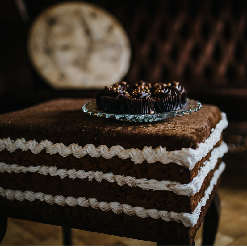 Chocolate Cake Pouffe 2