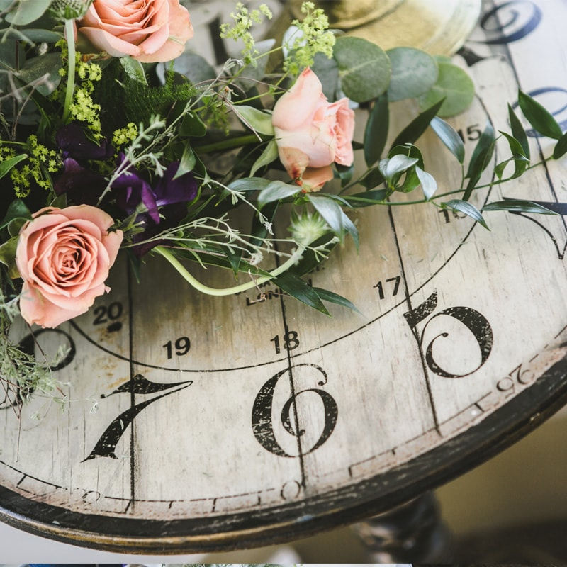 Vintage Clock Table  4
