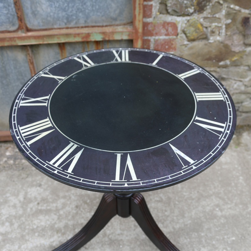 Black Clock Tripod Table 2
