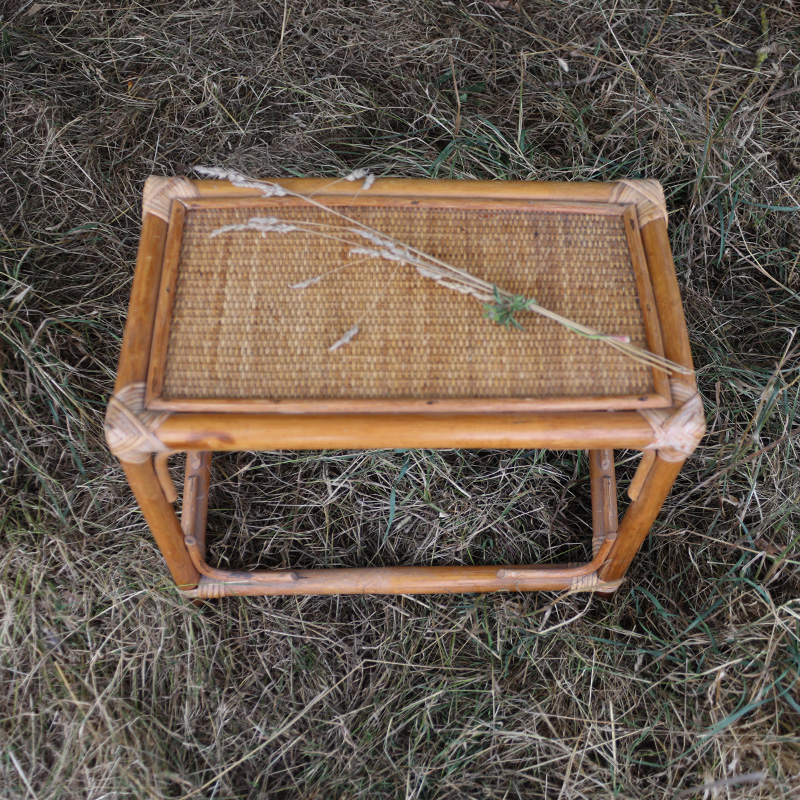 Rattan Rectangle Side Table  2