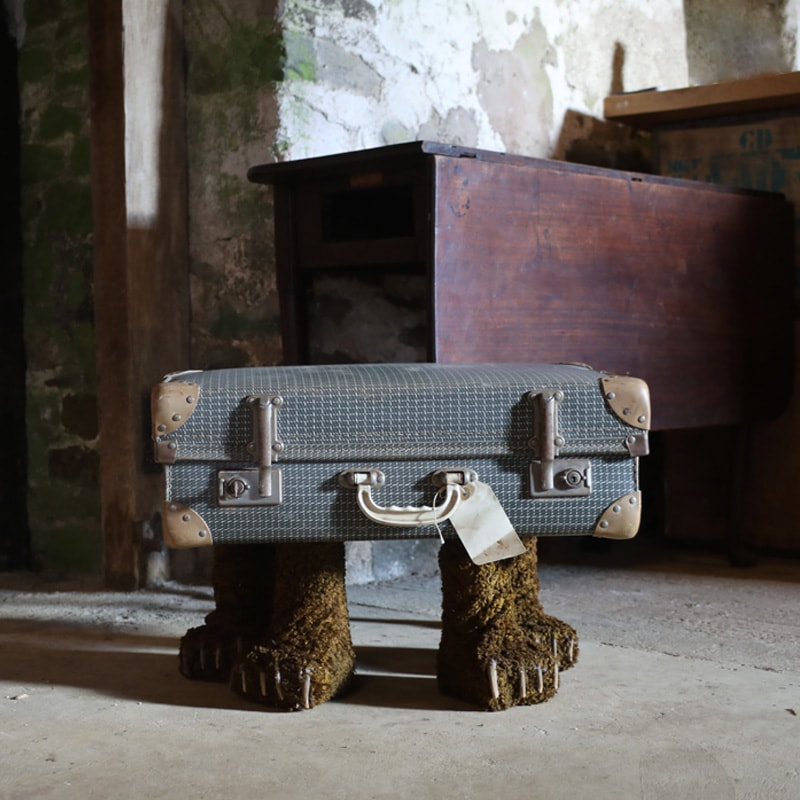 Bear Legged Vintage Suitcase Coffee Table  3